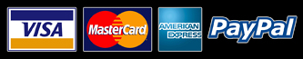 Visa, MasterCard, American Express & Paypal are accepted at Kush Clean